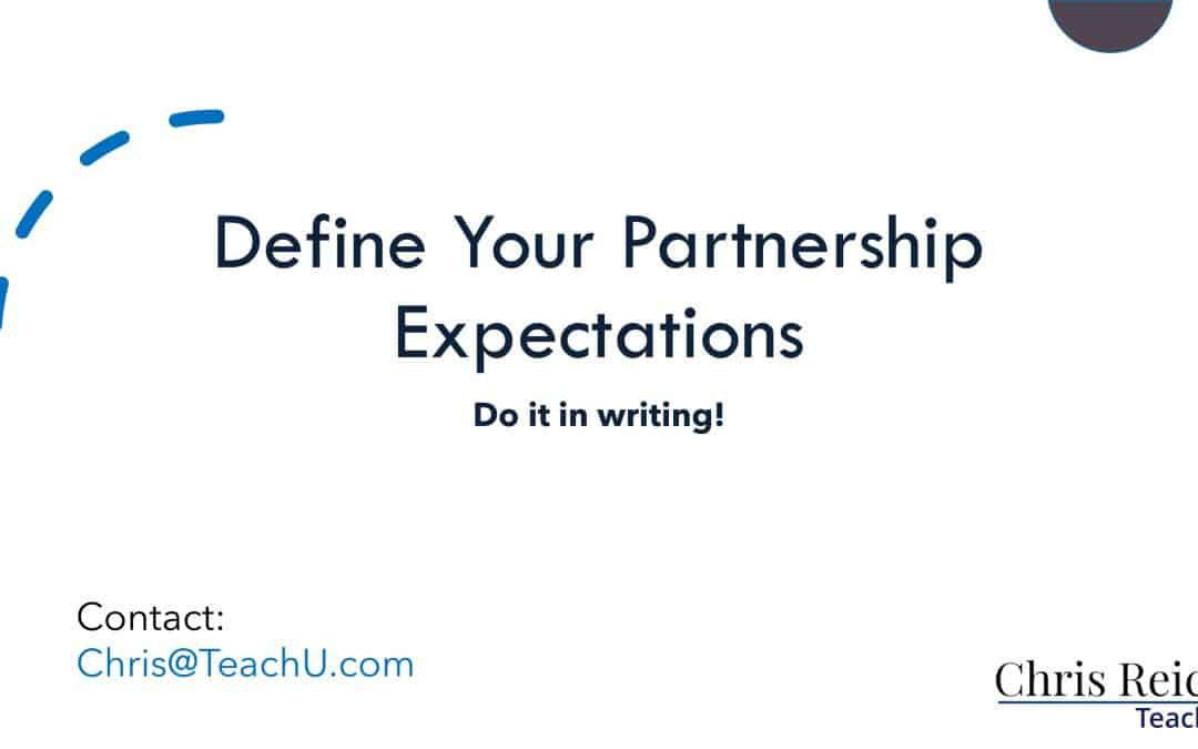 About Documenting Partnership Expectations