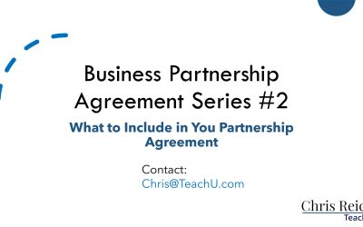 What Should Be Included in Your Partnership Agreement