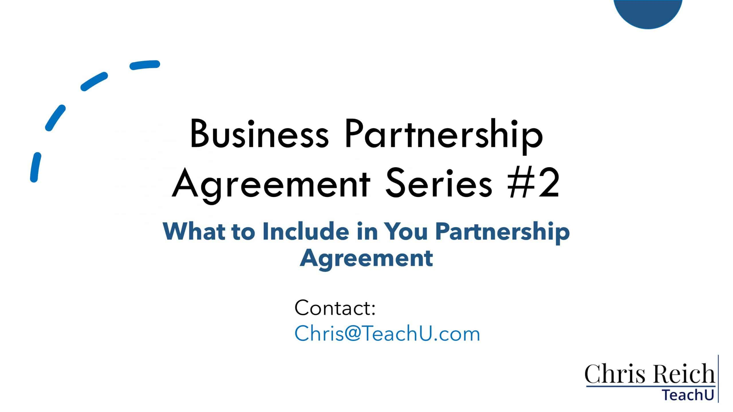 What You Should Include in Your Business Partnership Agreement