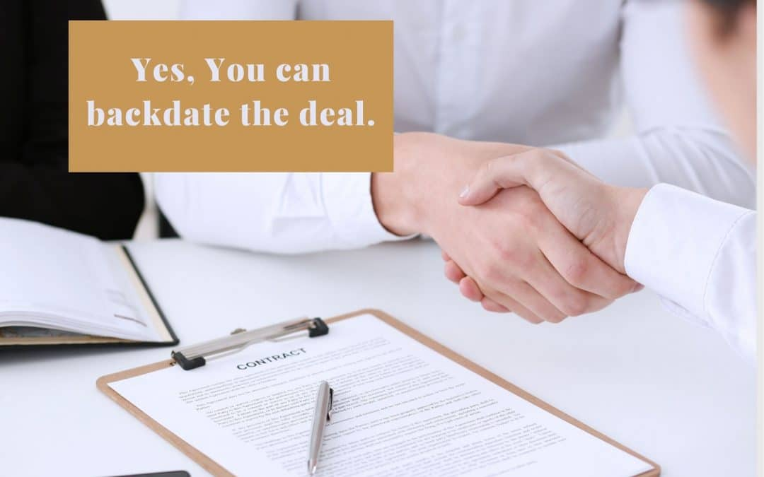 You Can Backdate Agreements in Business Legally